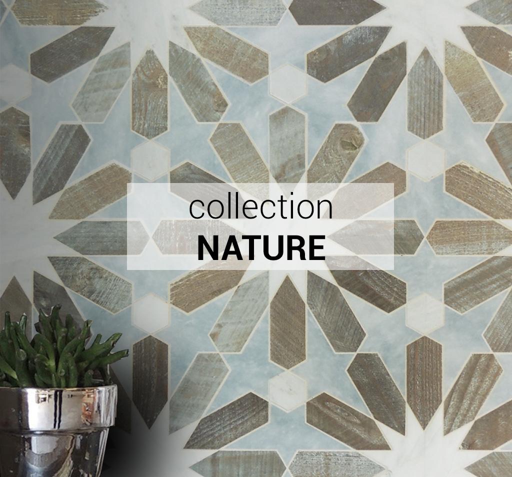 Elegantia : Mosaïque de matériaux naturels