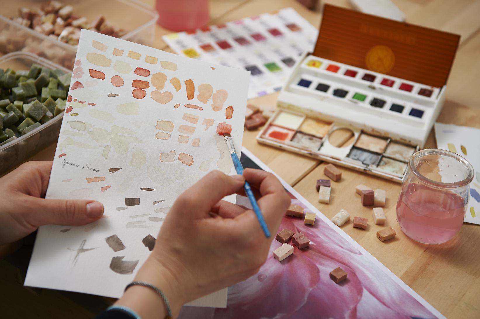 Elegantia : Mise en couleur mosaïque